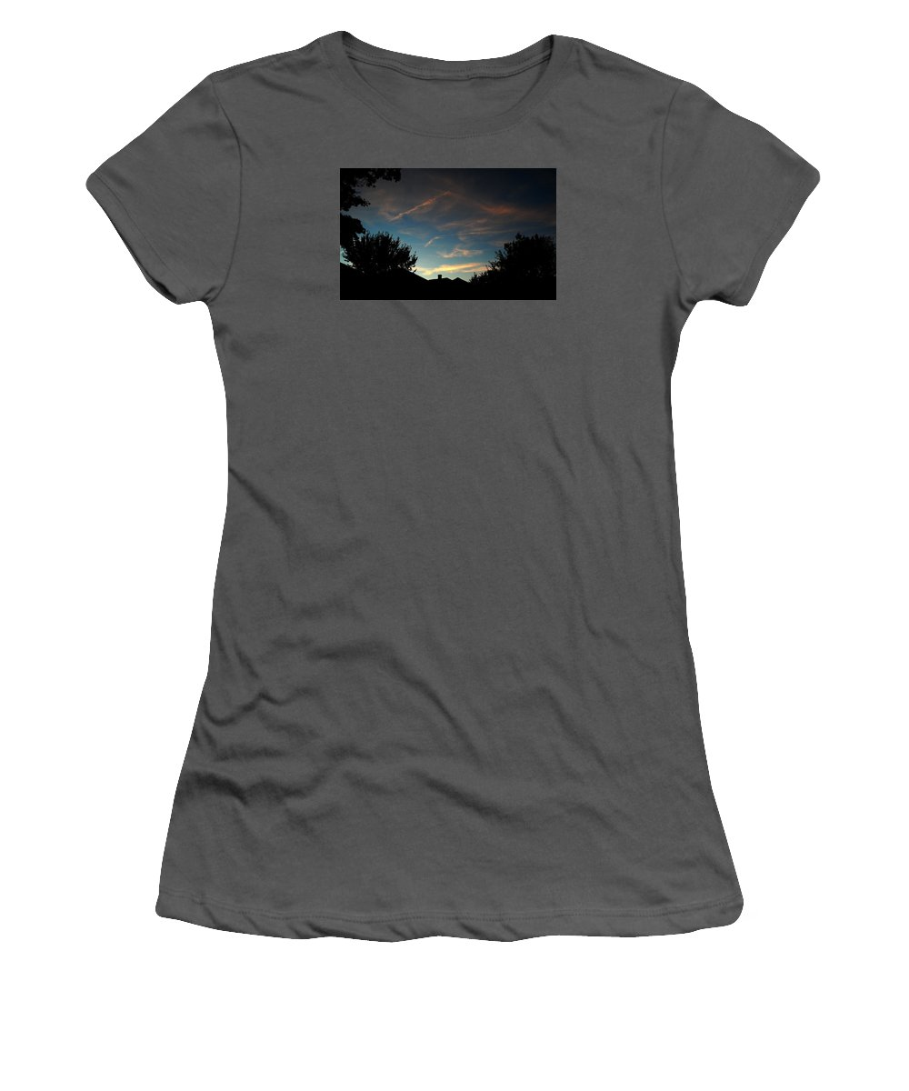 September Sky Just After Dusk.  Women's T-Shirt (Athletic Fit) featuring the photograph September Sky by Bill Driscoll
