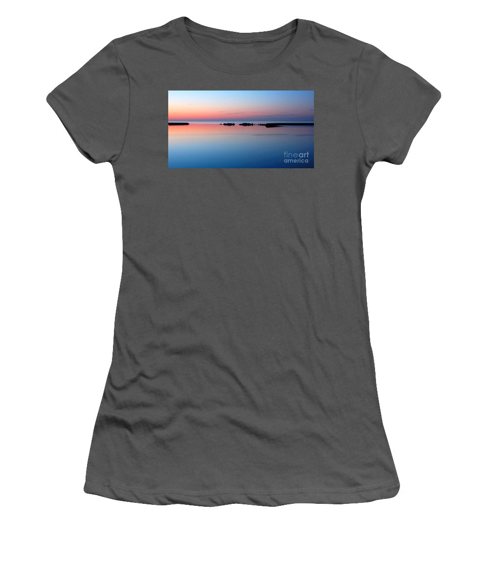 Blue Women's T-Shirt (Athletic Fit) featuring the photograph Serenity by Joe Ng