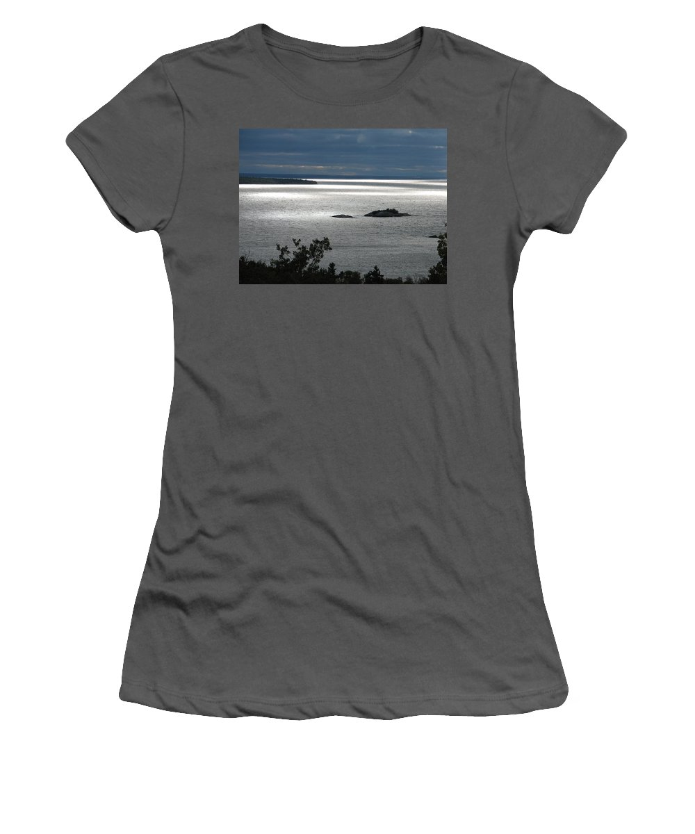 Lake Women's T-Shirt (Athletic Fit) featuring the photograph Serenity by Kelly Mezzapelle