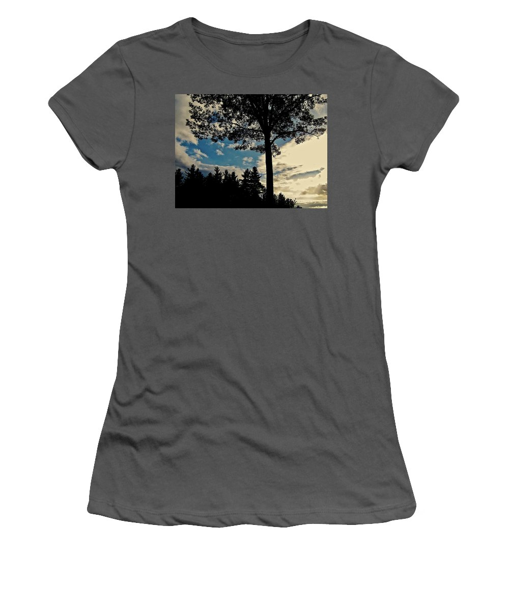 Tree Women's T-Shirt (Athletic Fit) featuring the photograph Shelter Me by Elizabeth Tillar