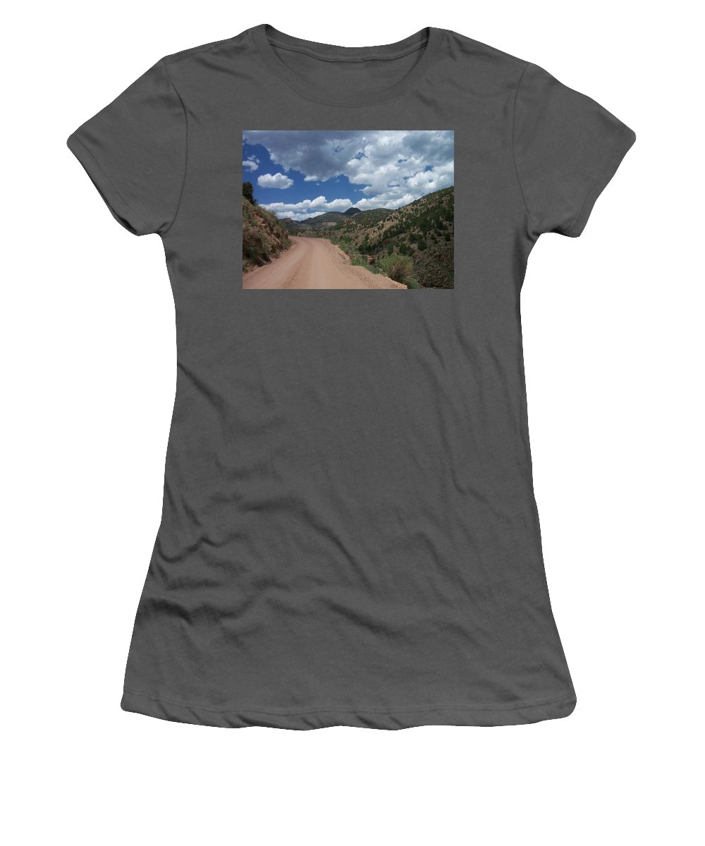 Shelf Road Women's T-Shirt (Athletic Fit) featuring the photograph Shelf Road by Anita Burgermeister
