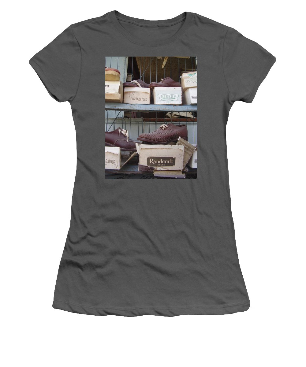 Shoes Women's T-Shirt (Athletic Fit) featuring the photograph Shoes by Flavia Westerwelle