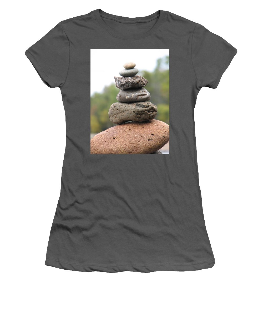 Rocks Women's T-Shirt (Athletic Fit) featuring the photograph Short Stack by Kelly Mezzapelle