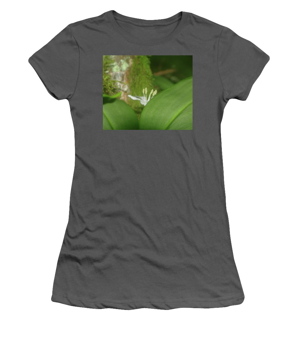Flowers Women's T-Shirt (Athletic Fit) featuring the photograph Shy Flower by Jeff Swan