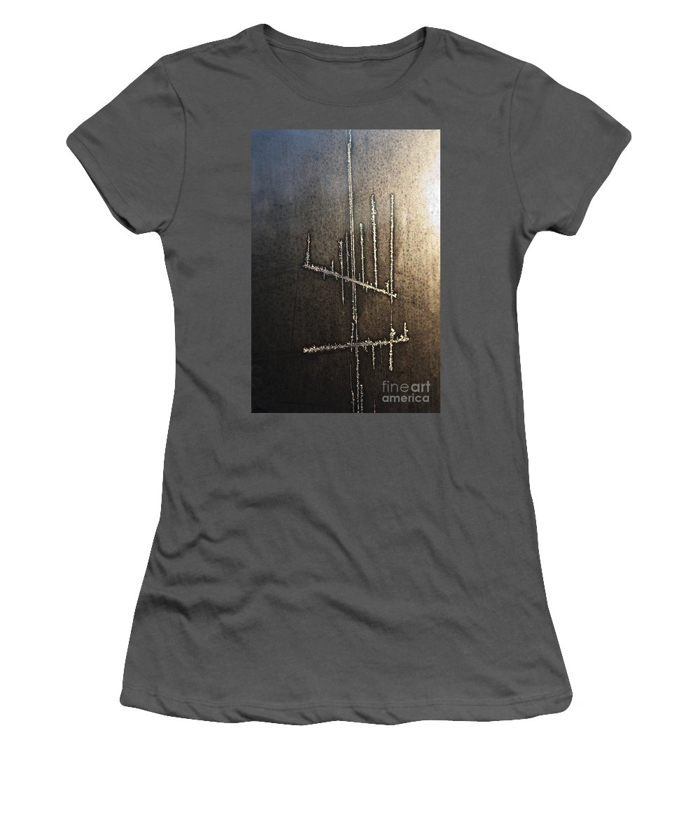 Candlestick Women's T-Shirt (Athletic Fit) featuring the photograph Signs-11 by Casper Cammeraat