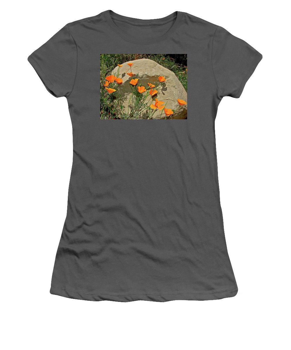 Poppy Women's T-Shirt (Athletic Fit) featuring the photograph Signs Of Spring by Diana Hatcher