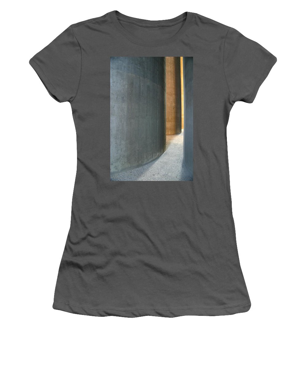 Silver Women's T-Shirt (Athletic Fit) featuring the photograph Silver And Gold In Belgium by Minaz Jantz