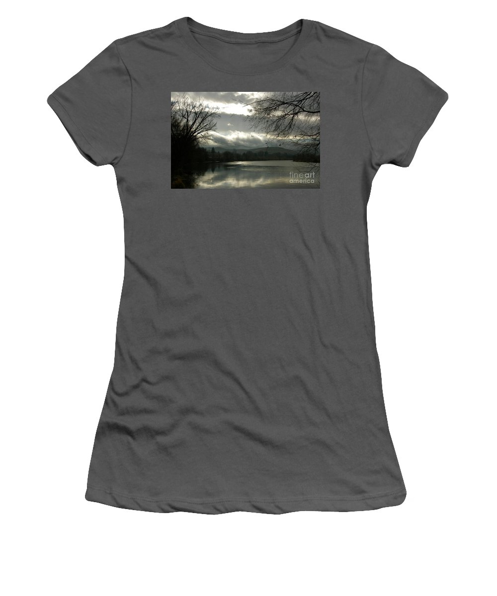Prosser Women's T-Shirt (Athletic Fit) featuring the photograph Silver River by Carol Groenen