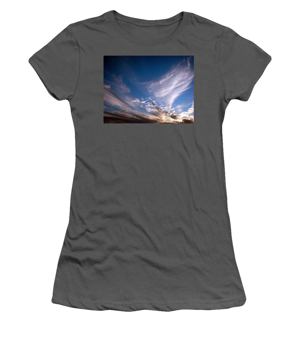 Skies Women's T-Shirt (Athletic Fit) featuring the photograph Sky by Amanda Barcon