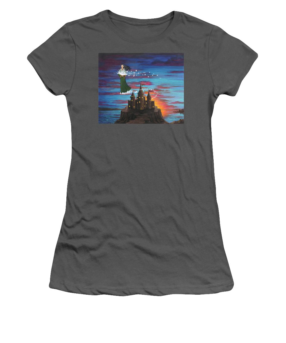 Wizard Women's T-Shirt (Athletic Fit) featuring the digital art Sky Walker by Roz Eve