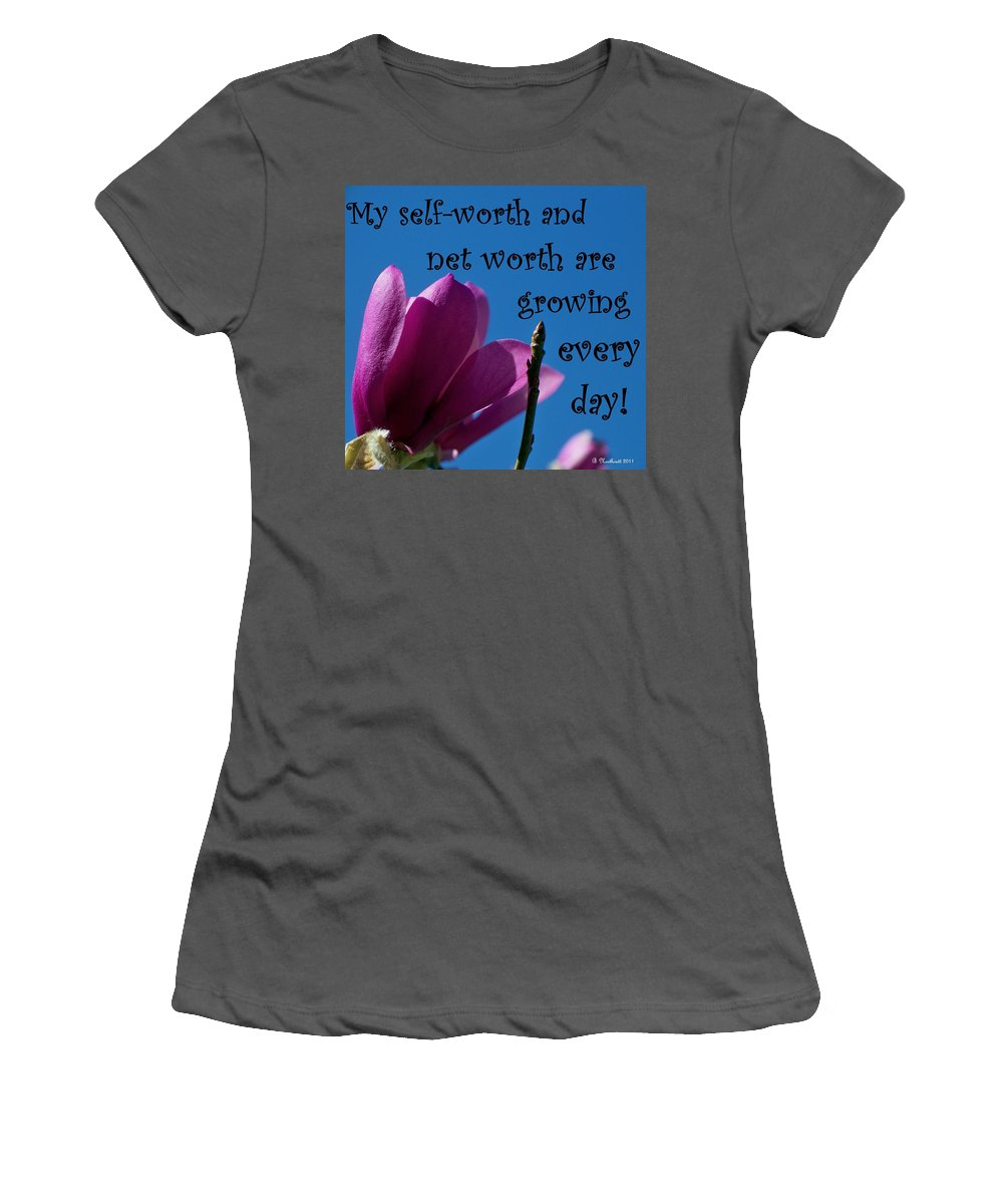Affirmation Women's T-Shirt (Athletic Fit) featuring the photograph Skyward Affirmation by Betty Northcutt