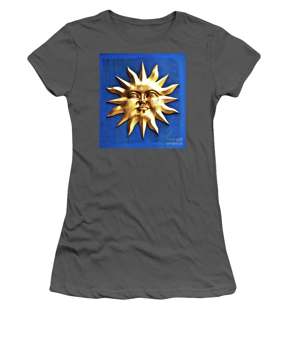 Sun Women's T-Shirt (Athletic Fit) featuring the photograph Smiling Sunshine by Meirion Matthias