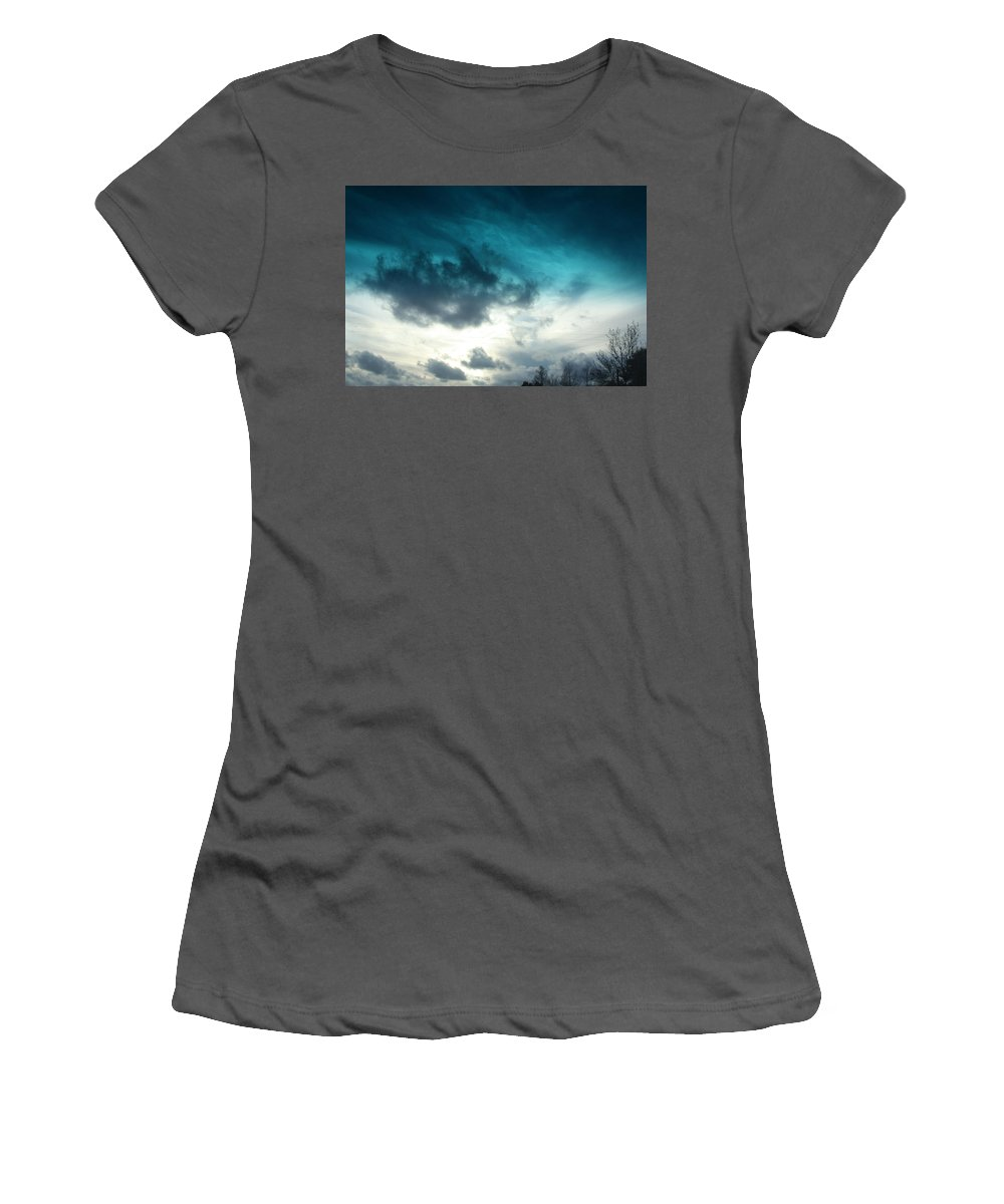 Blue Women's T-Shirt (Athletic Fit) featuring the photograph So Blue by Tamivision