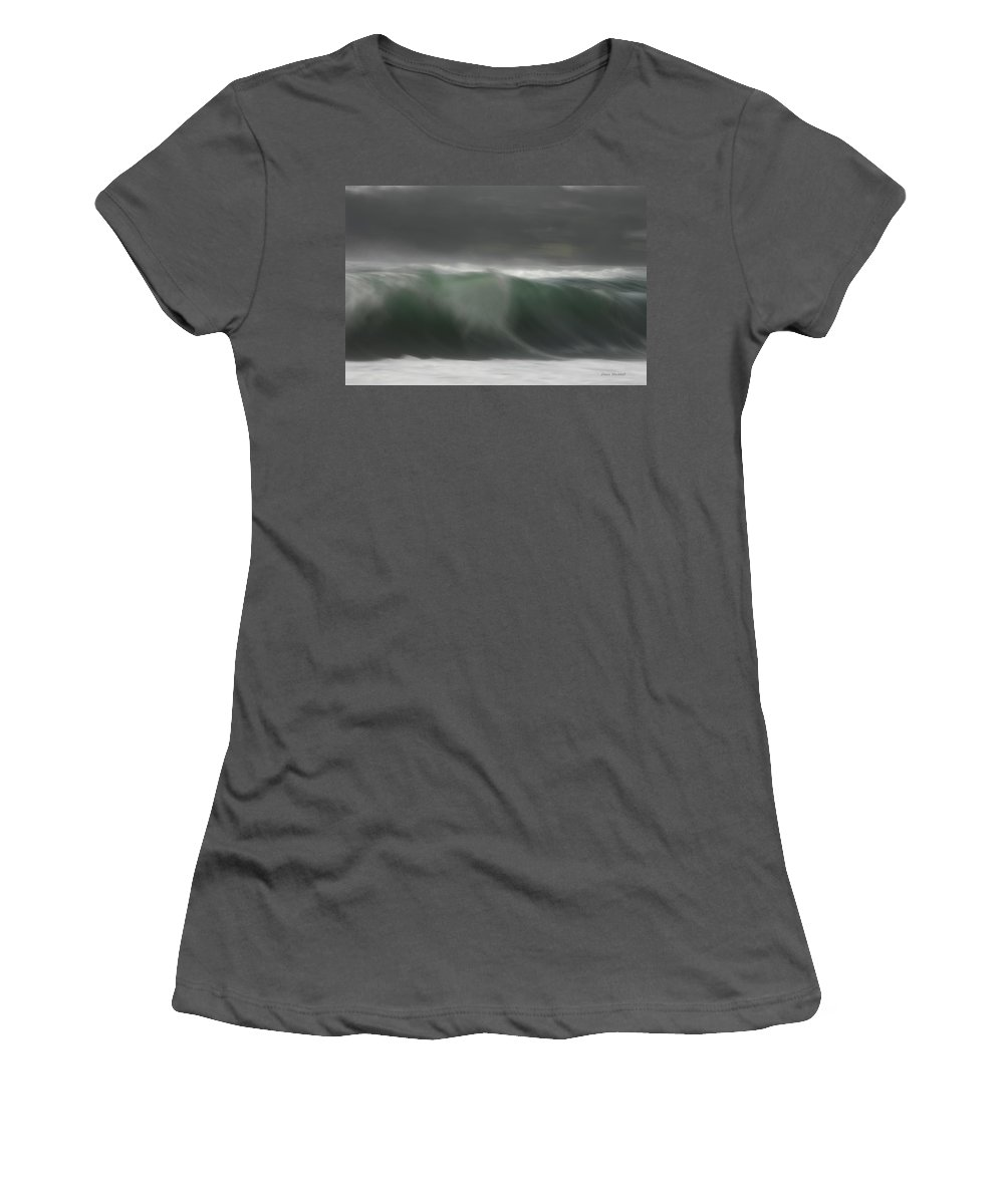 Ocean Women's T-Shirt (Athletic Fit) featuring the photograph Sofltly And Silently by Donna Blackhall
