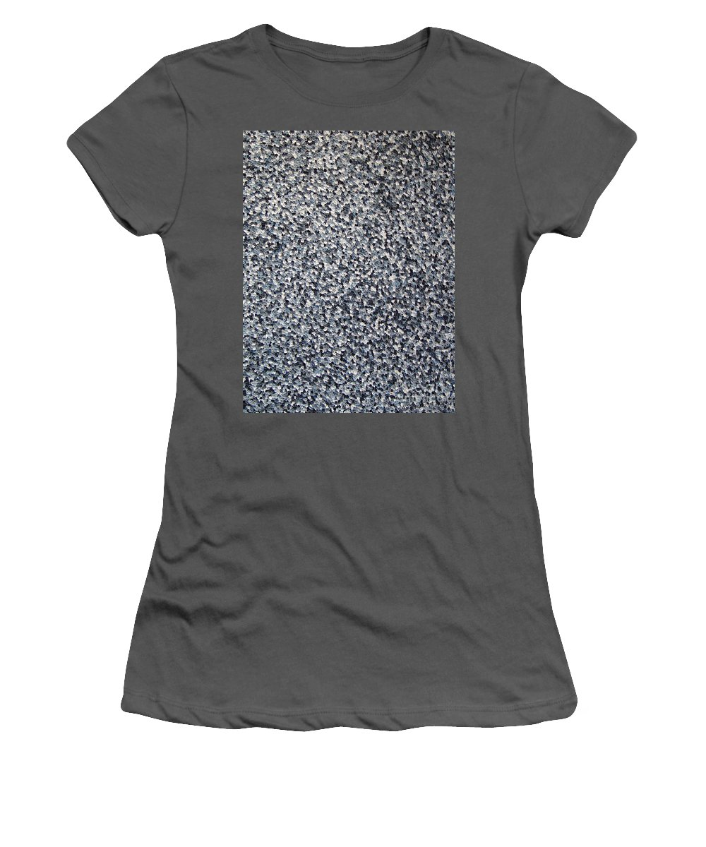 Abstract Women's T-Shirt (Athletic Fit) featuring the painting Soft Grey Scale by Dean Triolo
