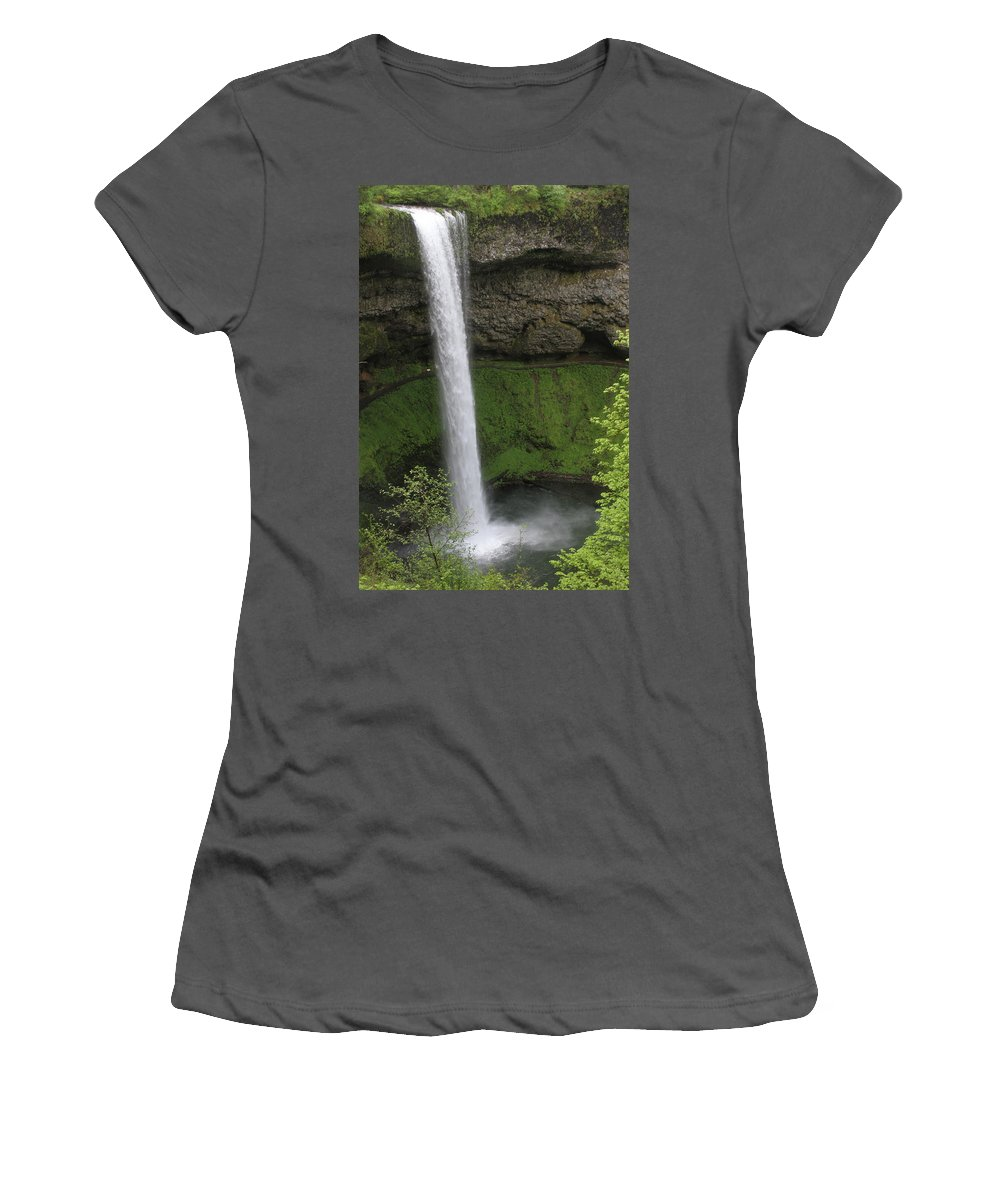South Falls Women's T-Shirt (Athletic Fit) featuring the photograph South Falls by Laddie Halupa