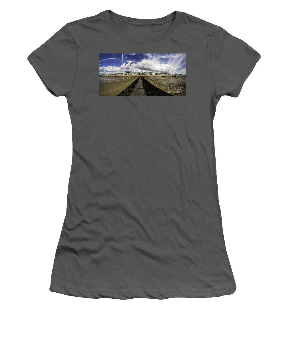 Southend On Sea Women's T-Shirt (Athletic Fit) featuring the photograph Southend On Sea Panorama by Sheila Smart Fine Art Photography