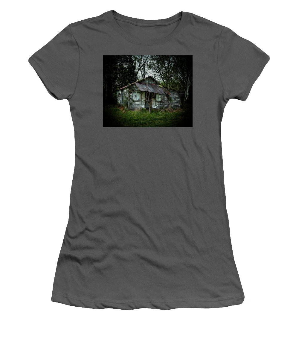 Women's T-Shirt (Athletic Fit) featuring the photograph Southern Shack by Toby Horton