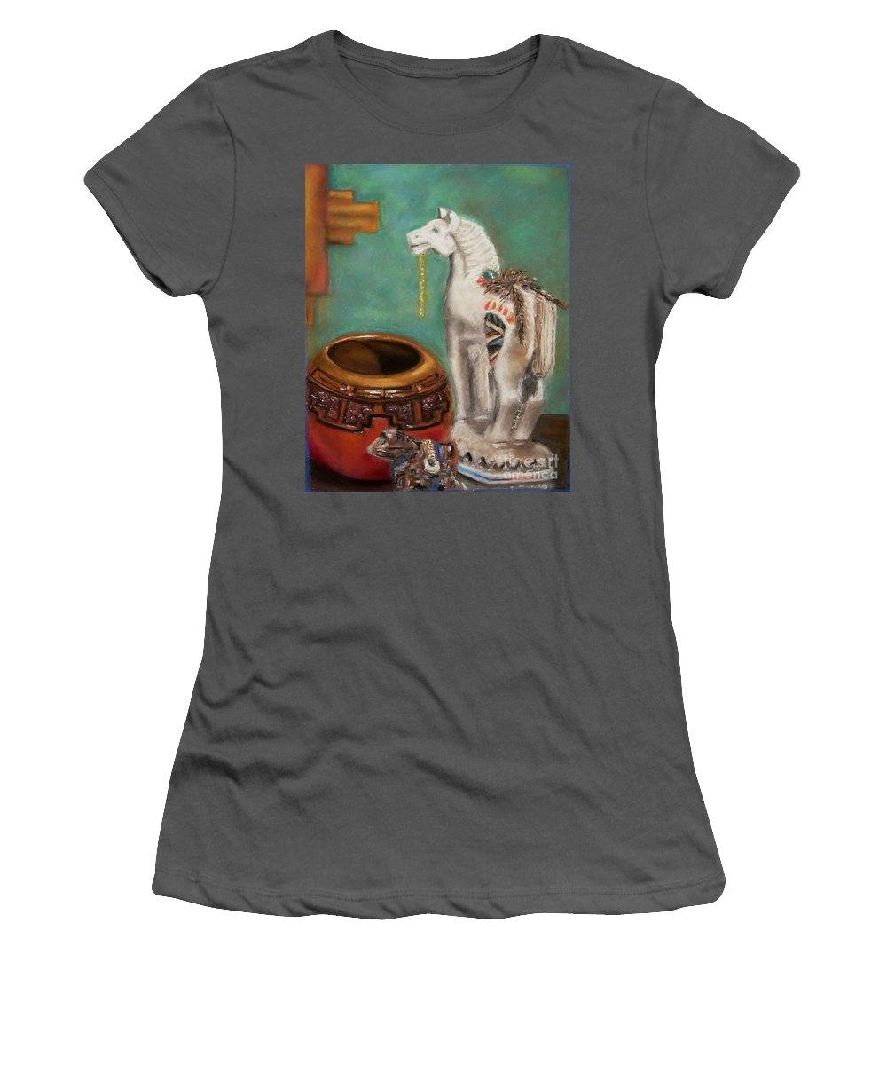 Southwest Art Women's T-Shirt (Athletic Fit) featuring the painting Southwest Treasures by Frances Marino