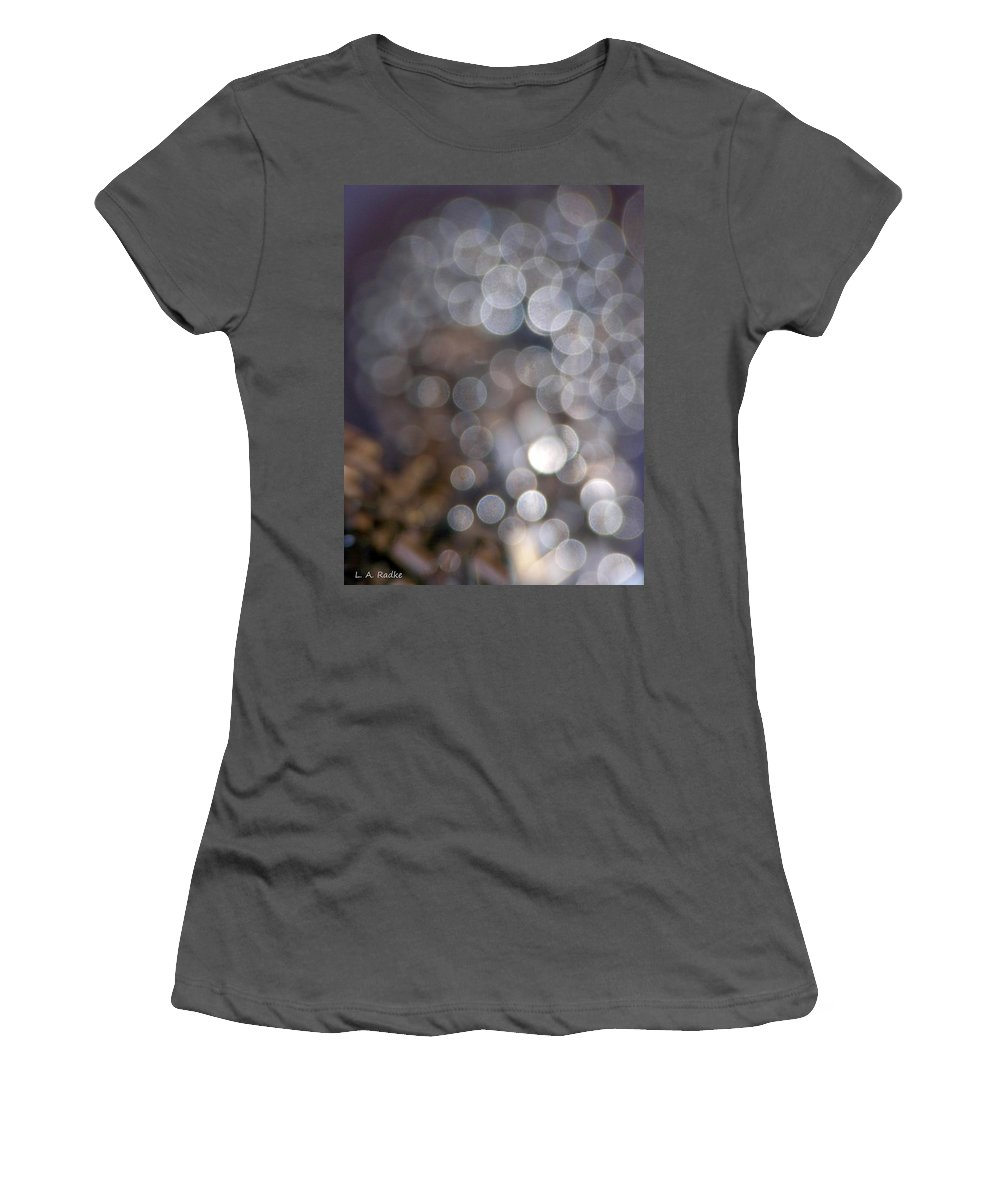 Abstract Women's T-Shirt (Athletic Fit) featuring the photograph Spirits - The Lost by Lauren Radke