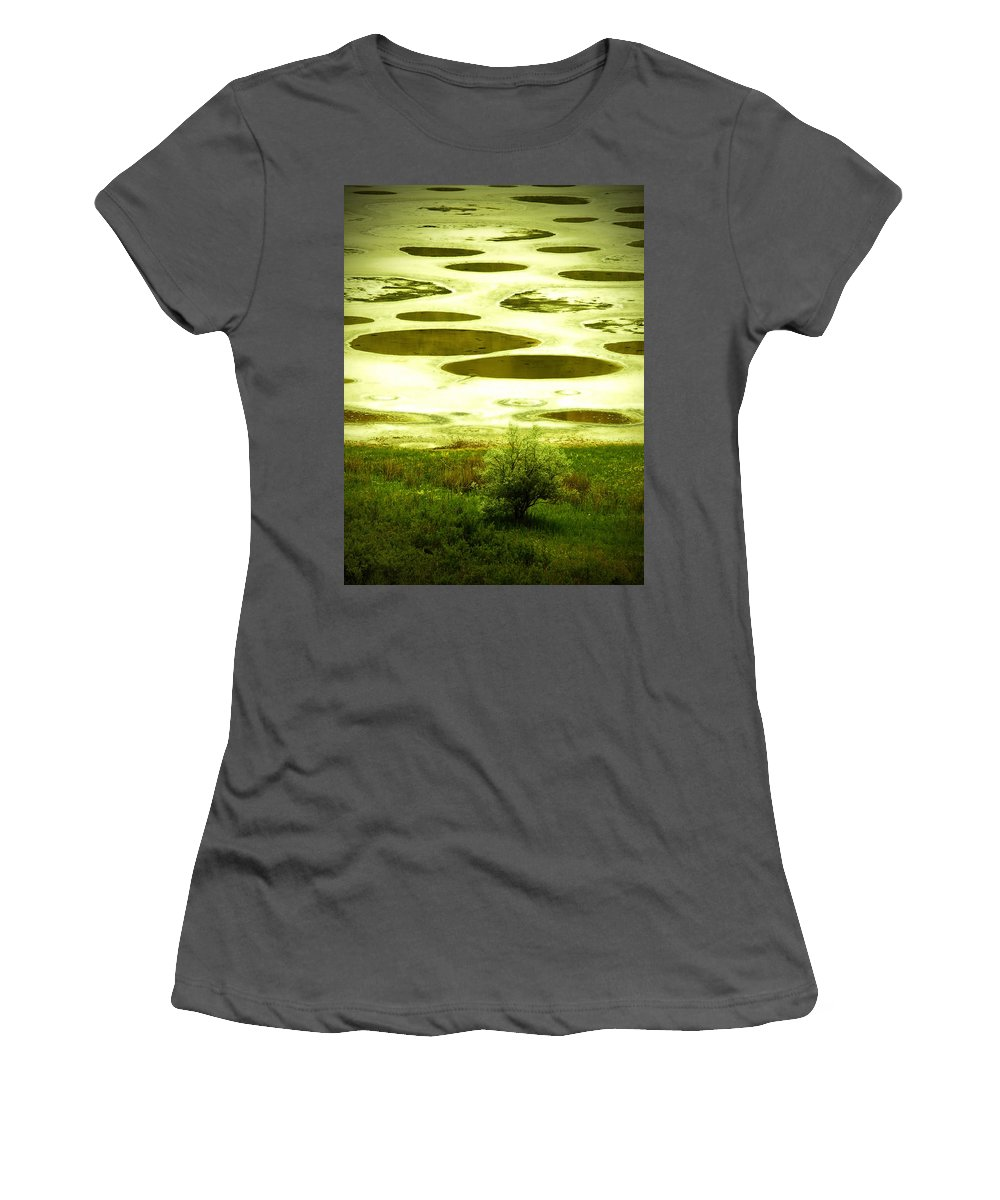 Spotted Lake Women's T-Shirt (Athletic Fit) featuring the photograph Spotted Lake by Tara Turner