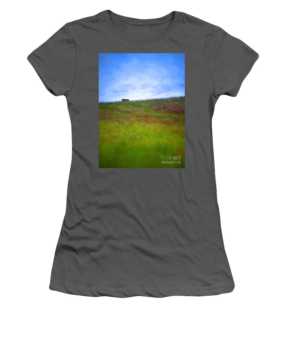 Bench Women's T-Shirt (Athletic Fit) featuring the photograph Spring Bench by Tara Turner