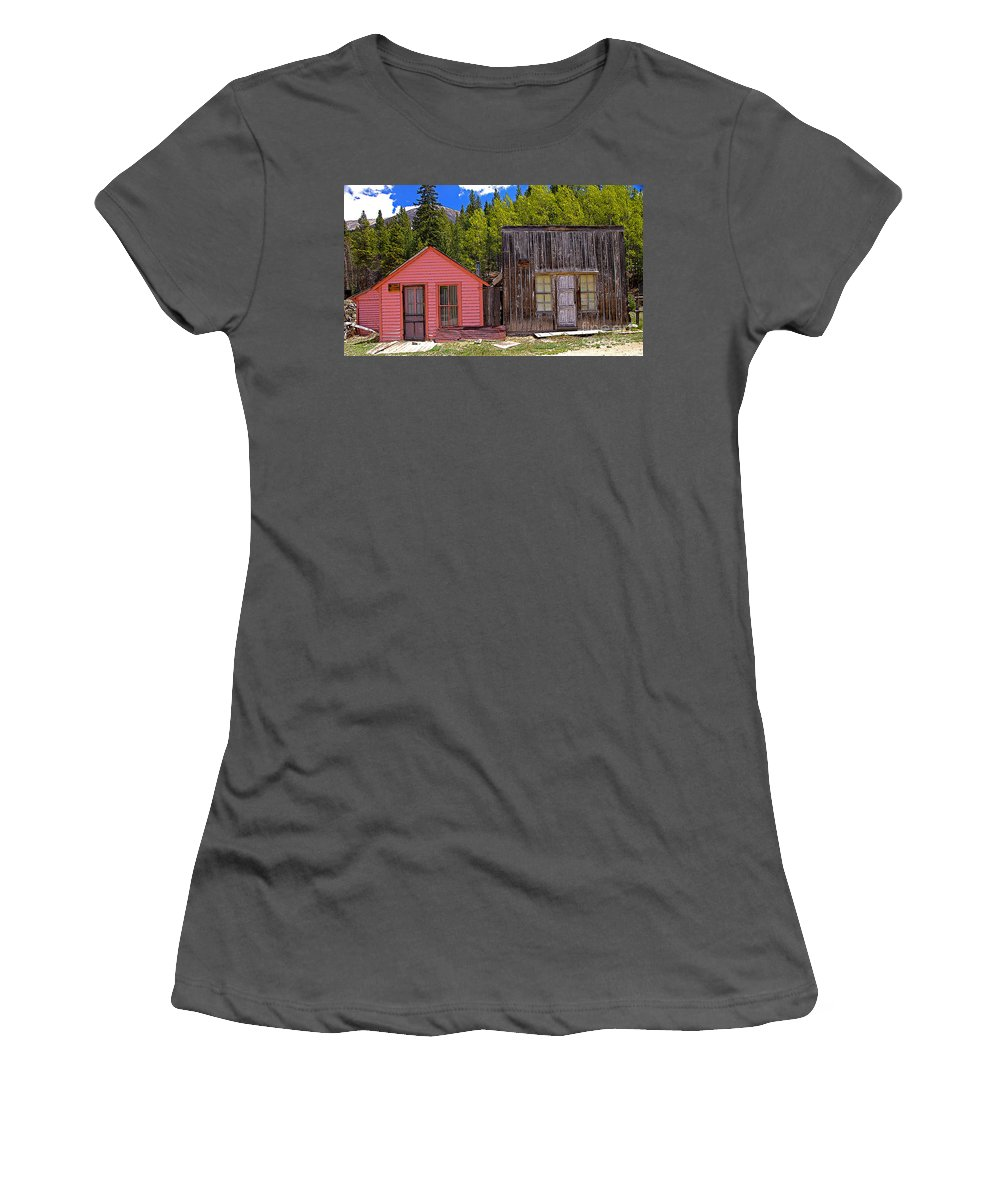 Colorado Women's T-Shirt (Athletic Fit) featuring the photograph St. Elmo Pink House And Barn by Rich Walter
