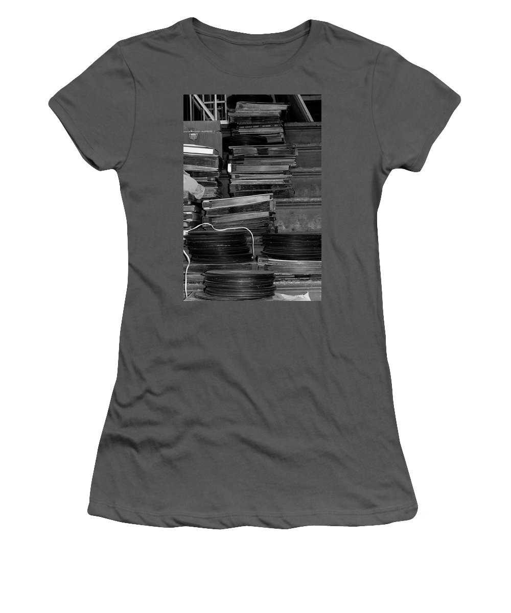 Photo For Sale Women's T-Shirt (Athletic Fit) featuring the photograph Stacks Of Wax by Robert Wilder Jr