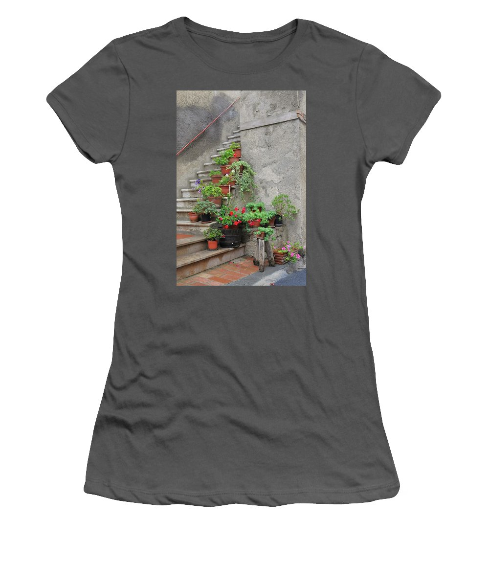 Europe Women's T-Shirt (Athletic Fit) featuring the photograph Stairway To Heaven by Jim Benest