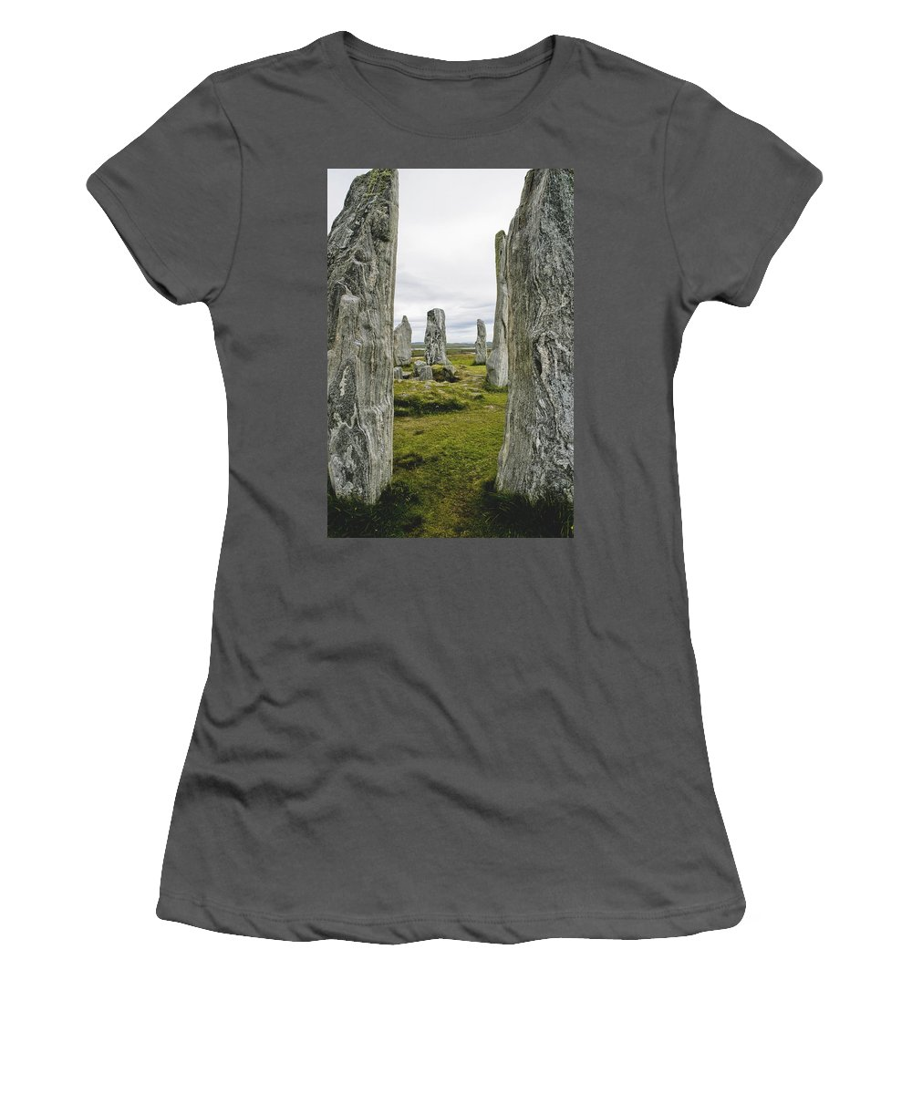 Photography Women's T-Shirt (Athletic Fit) featuring the photograph Standing Stones by Axiom Photographic