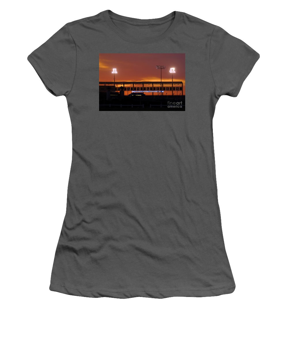 Steinbrenner Field Women's T-Shirt (Athletic Fit) featuring the photograph Steinbrenner Field by David Lee Thompson