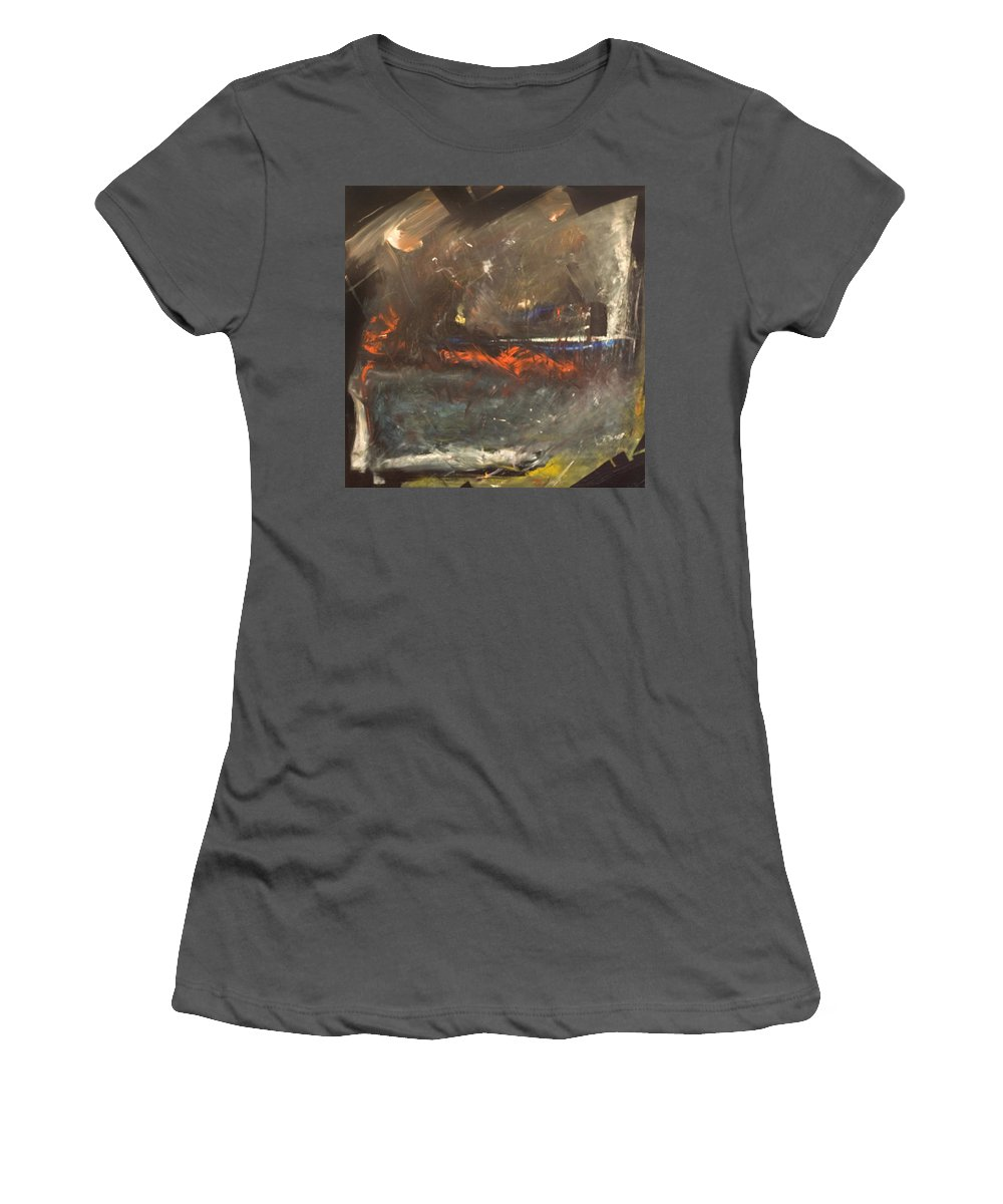 Storm Women's T-Shirt (Athletic Fit) featuring the painting Stormy Monday by Tim Nyberg