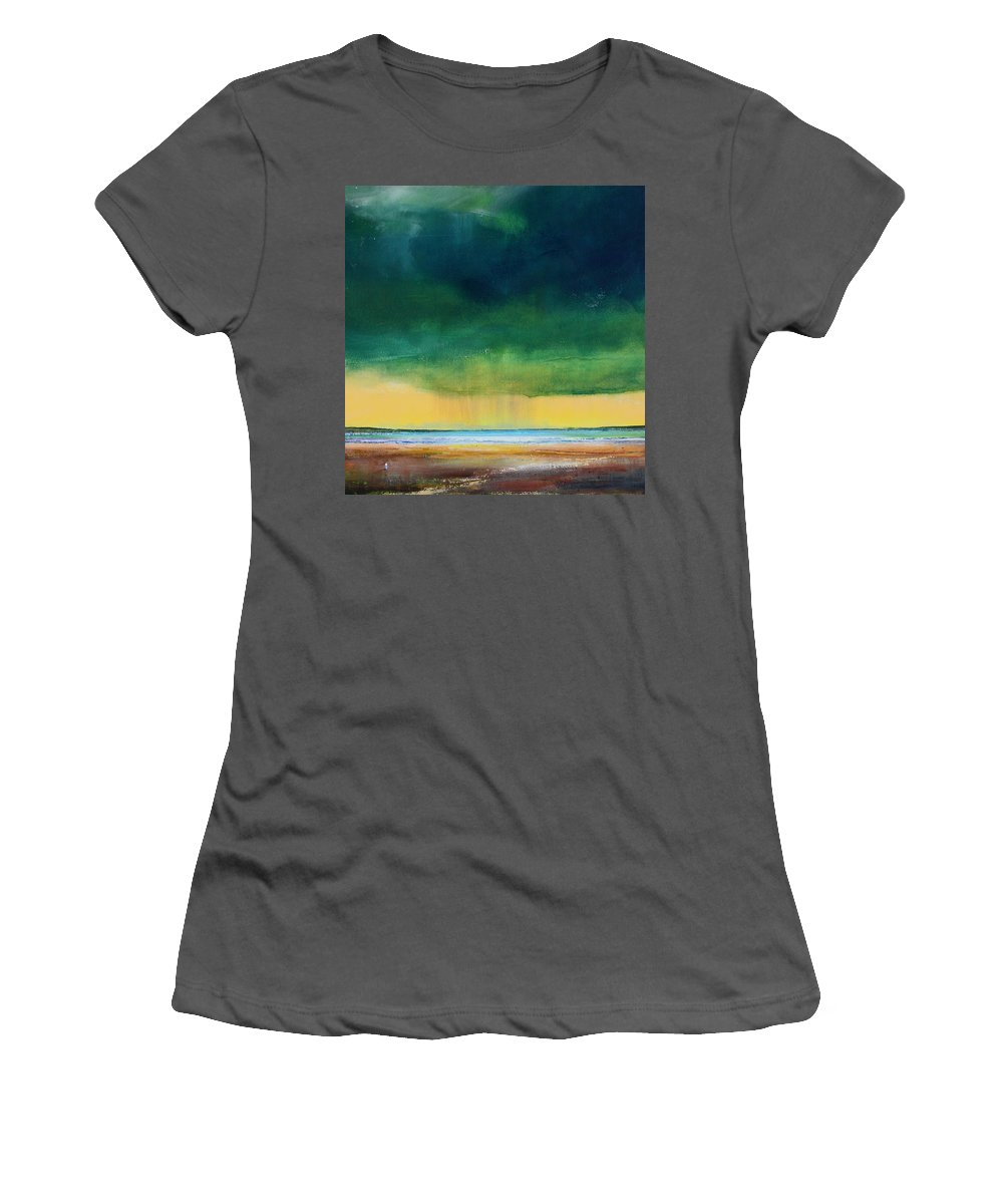 Storm Women's T-Shirt (Athletic Fit) featuring the painting Stormy Seas by Toni Grote