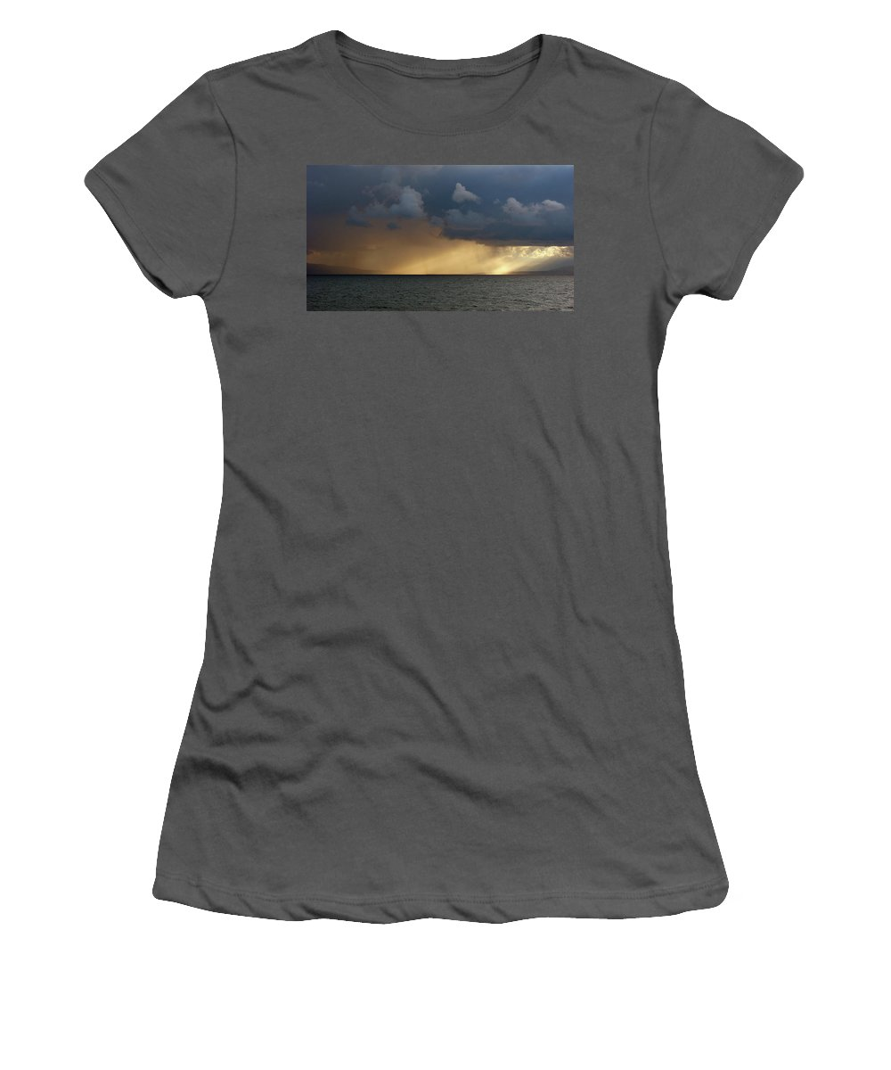 Strait Of Messina Women's T-Shirt (Athletic Fit) featuring the photograph Strait Of Messina IIi by Brett Winn