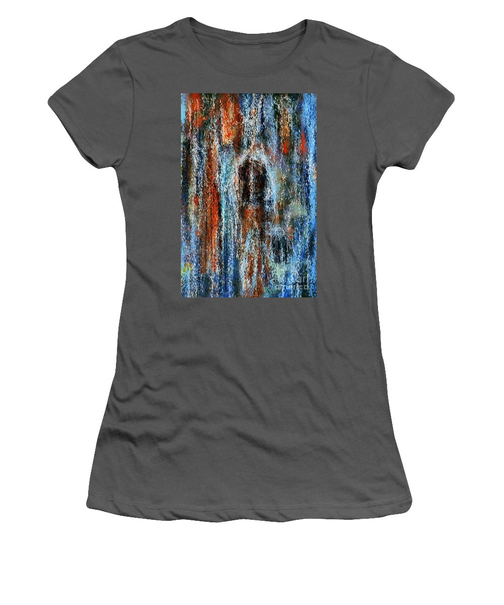 Women's T-Shirt (Athletic Fit) featuring the digital art Stump Revealed by David Lane