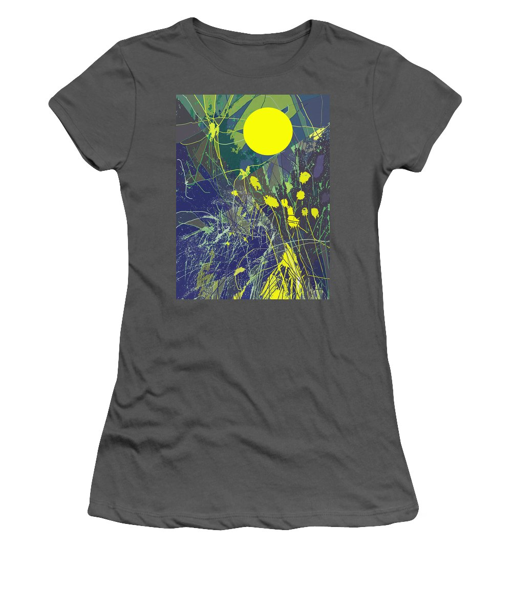 Abstract Women's T-Shirt (Athletic Fit) featuring the digital art Summer Memories by Ian MacDonald