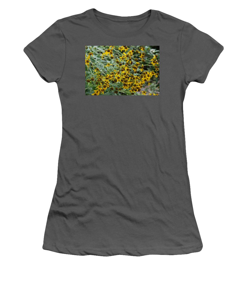 Macro Women's T-Shirt (Athletic Fit) featuring the photograph Sun Flowers by Rob Hans