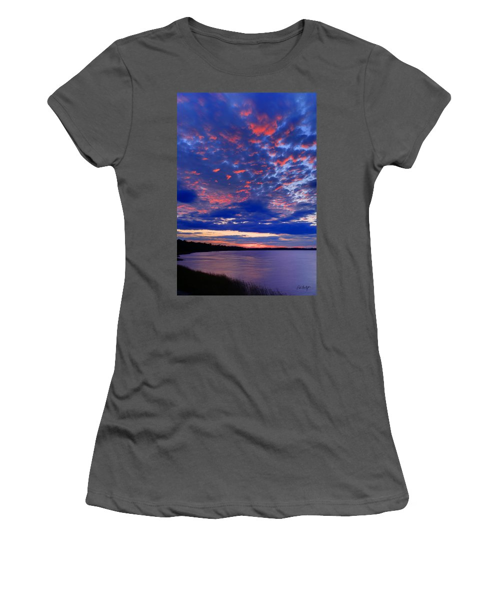 Blue Women's T-Shirt (Athletic Fit) featuring the photograph Sun Has Set by Phill Doherty
