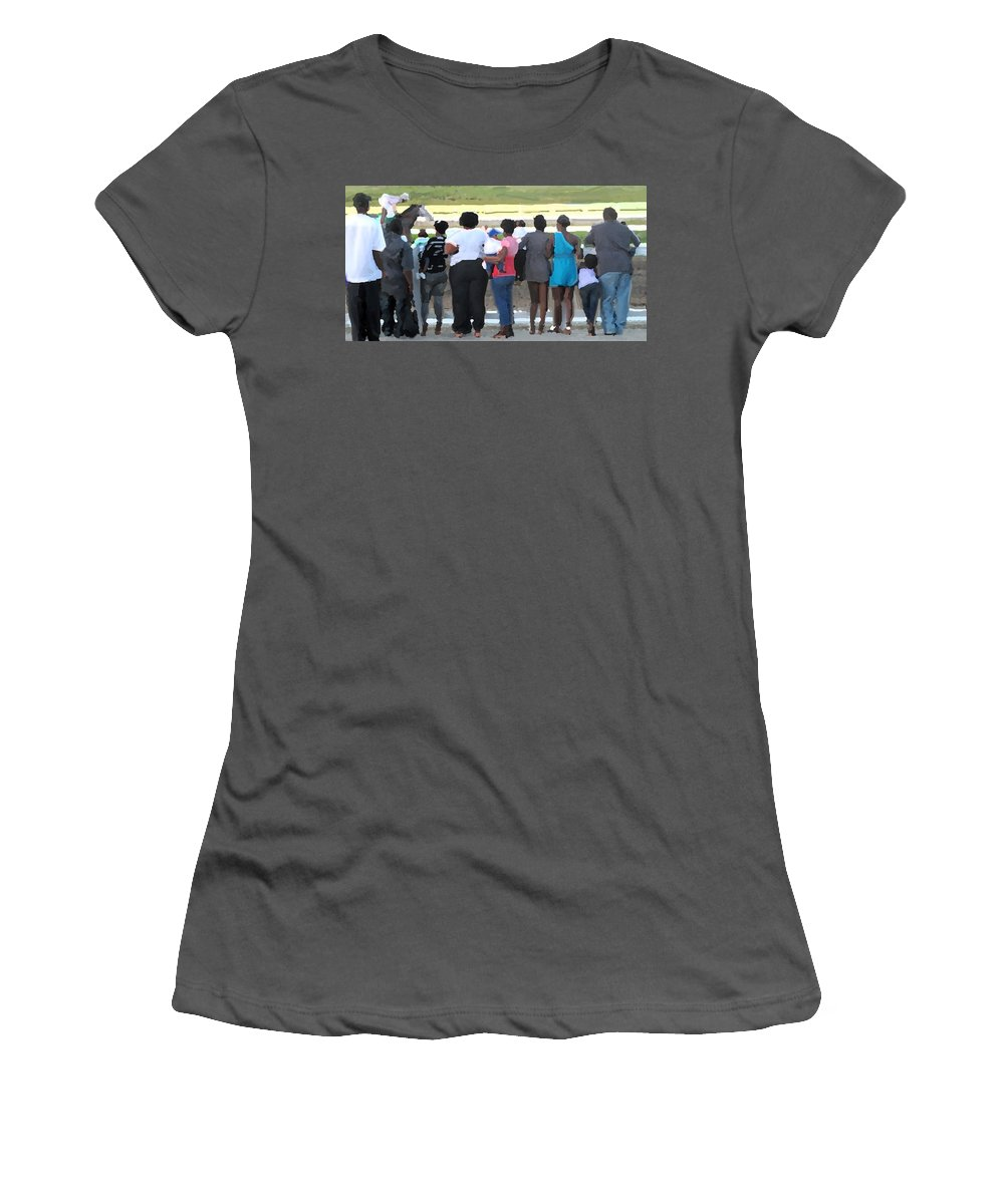 Beaumont Women's T-Shirt (Athletic Fit) featuring the photograph Sunday Race Impressions by Ian MacDonald