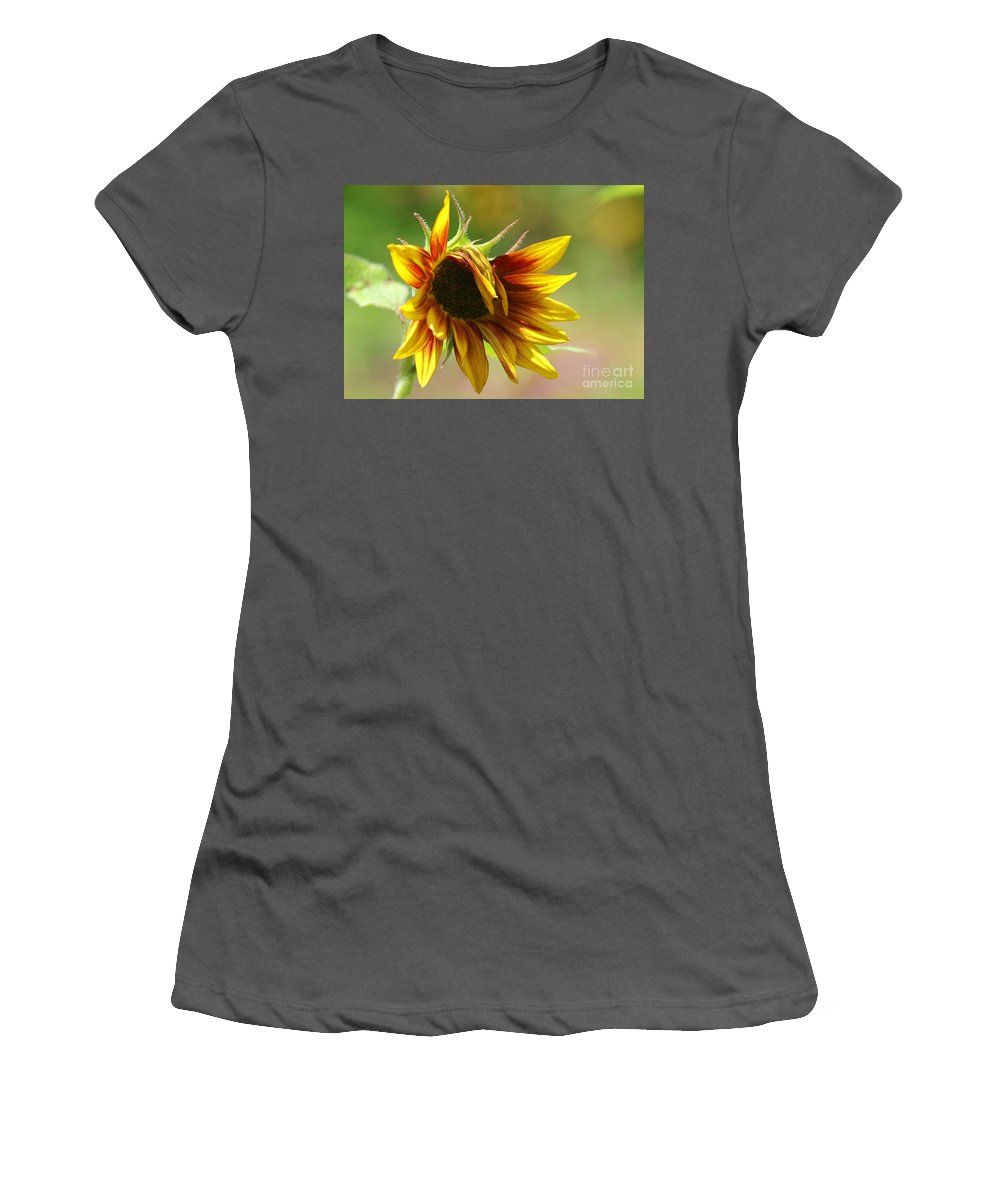 Flower Women's T-Shirt (Athletic Fit) featuring the photograph Sunflower Trendsetter by Sabrina L Ryan