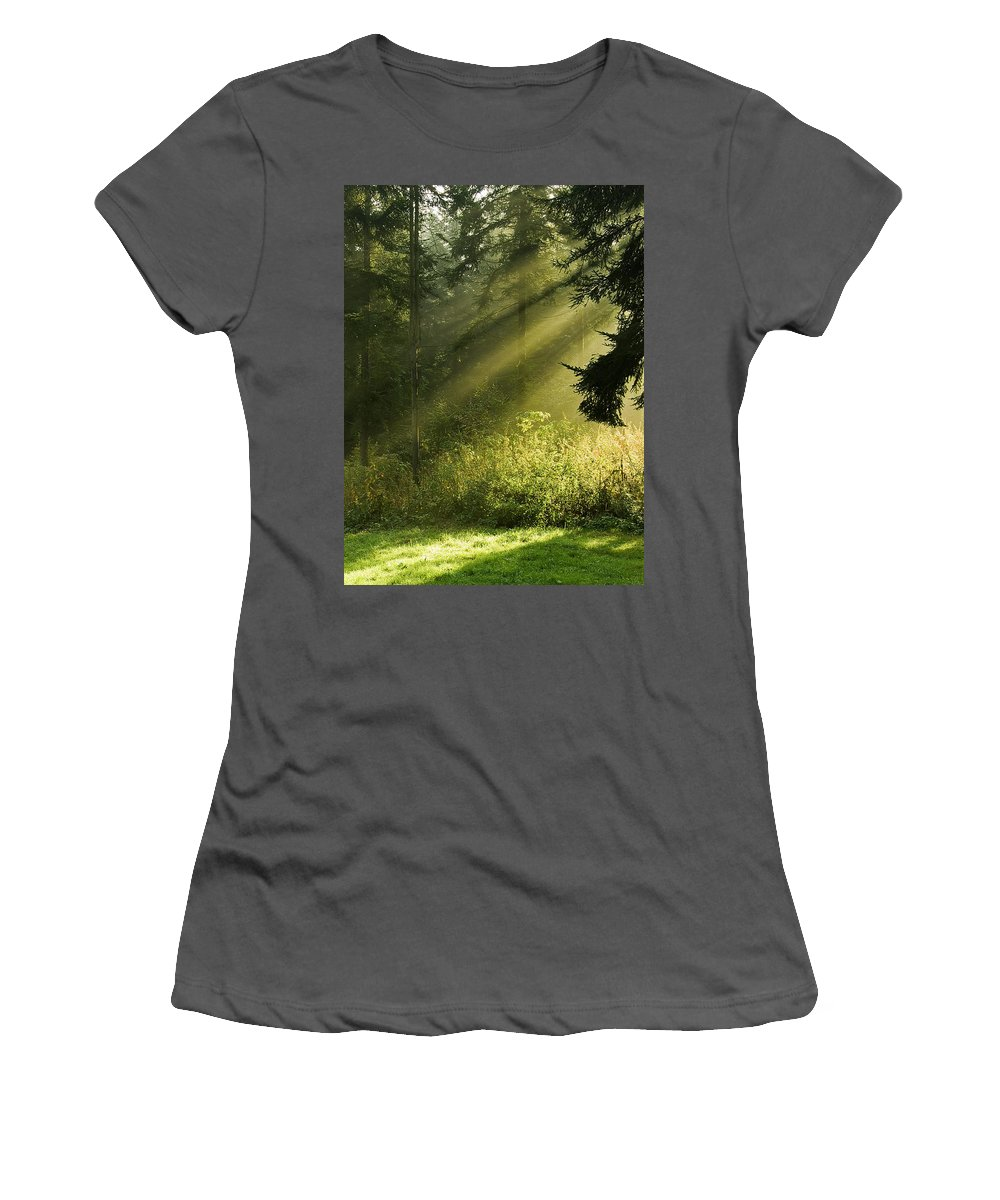 Nature Women's T-Shirt (Athletic Fit) featuring the photograph Sunlight by Daniel Csoka