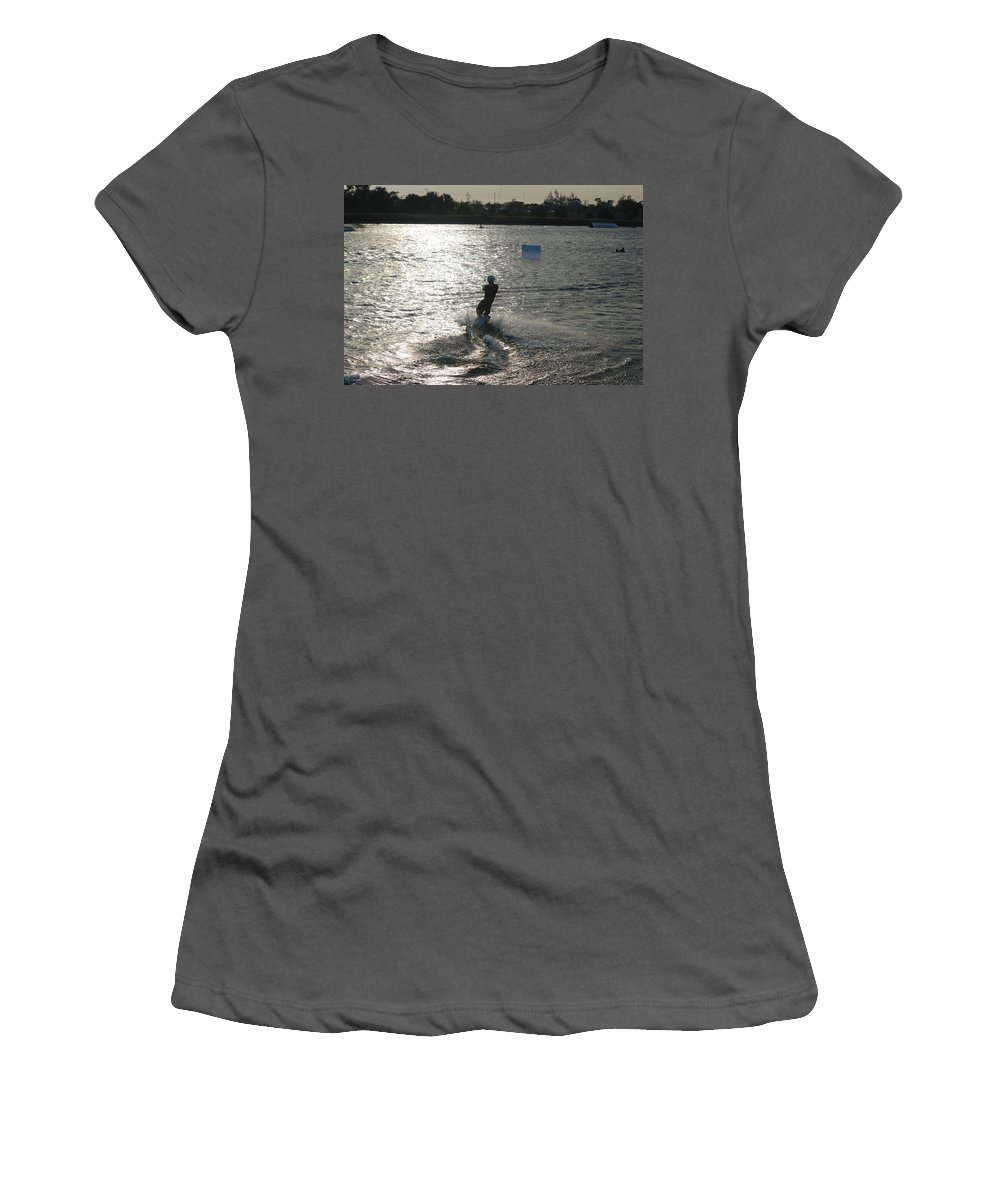Sun Women's T-Shirt (Athletic Fit) featuring the photograph Sunny Ski by Rob Hans