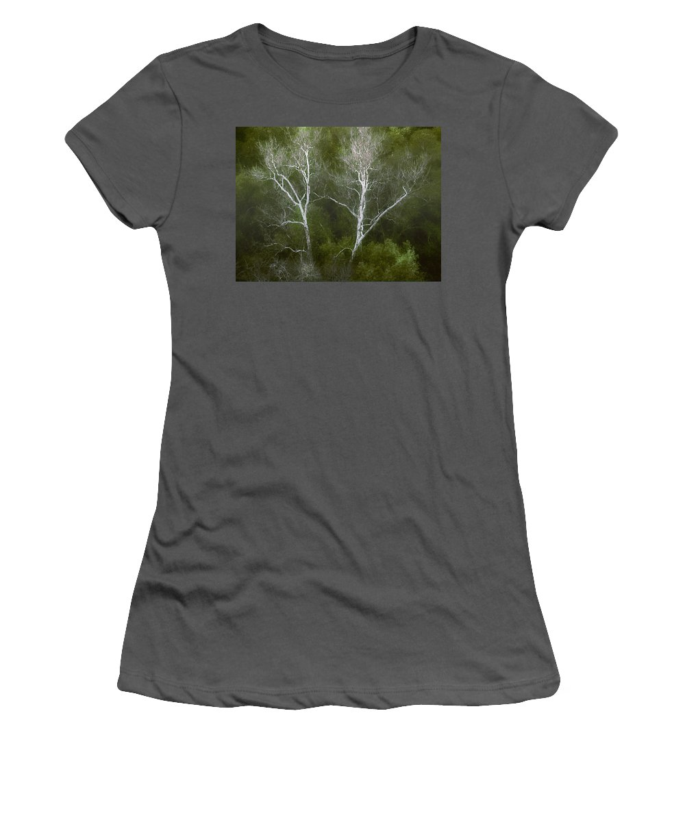 Landscape Women's T-Shirt (Athletic Fit) featuring the photograph Sunol - Twins by Karen W Meyer