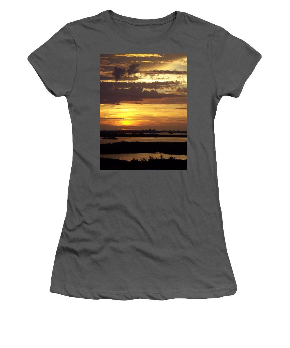 Sunset Women's T-Shirt (Athletic Fit) featuring the photograph Sunset 0001 by Laurie Paci