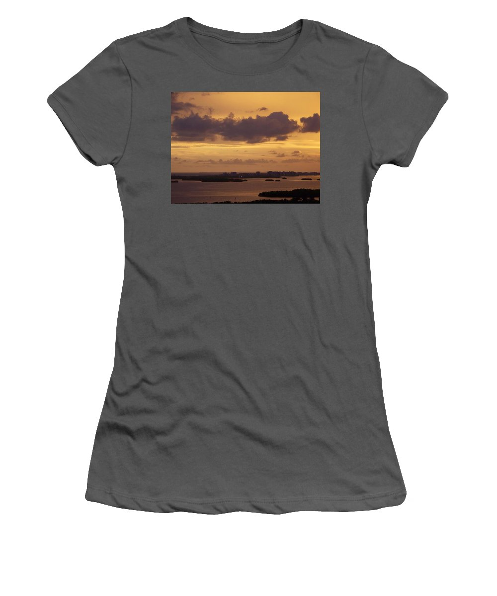 Sunset Women's T-Shirt (Athletic Fit) featuring the photograph Sunset 0004 by Laurie Paci