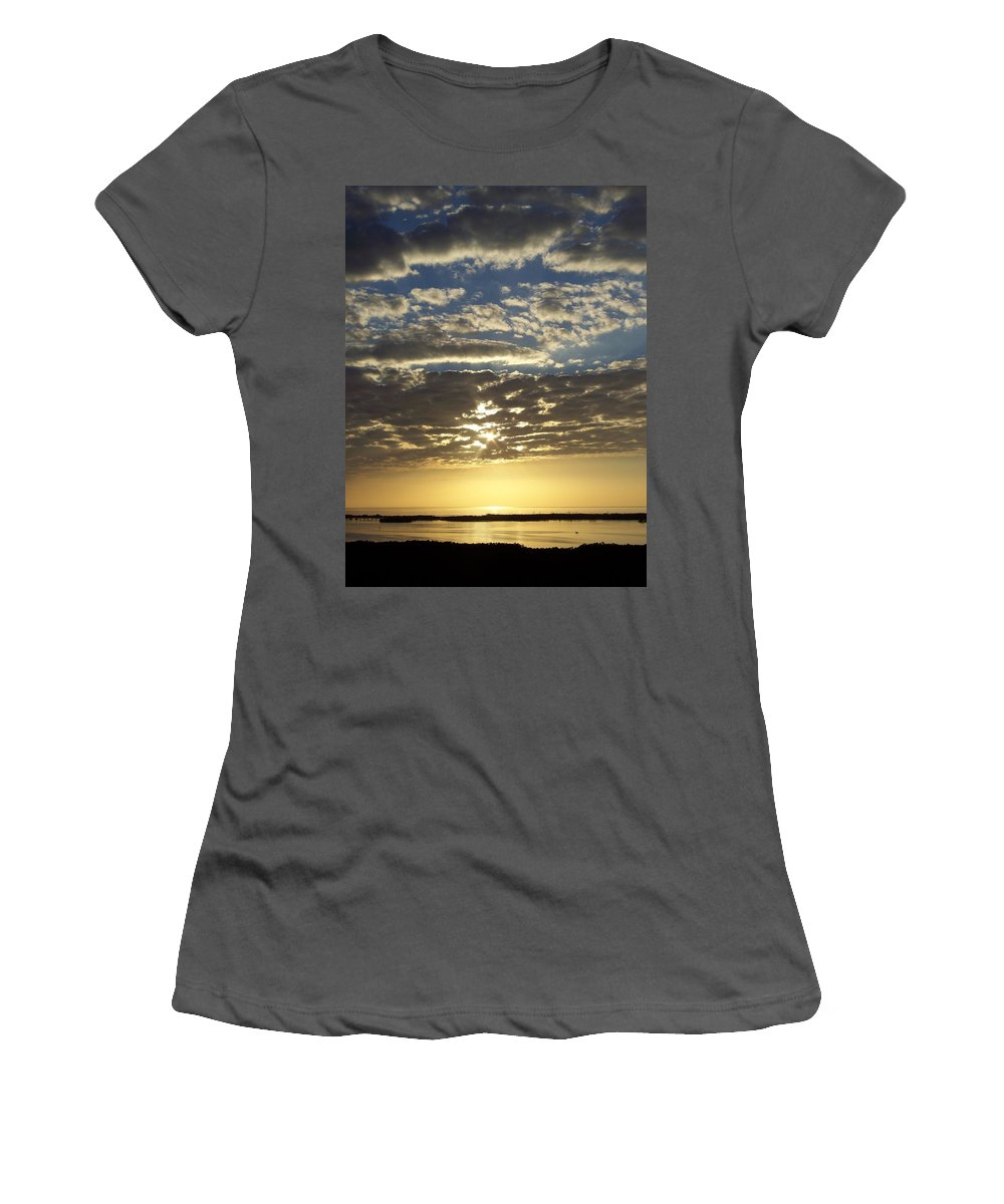 Sunset Women's T-Shirt (Athletic Fit) featuring the photograph Sunset 0011 by Laurie Paci