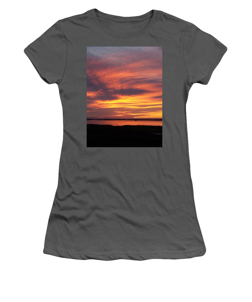 Sunset Women's T-Shirt (Athletic Fit) featuring the photograph Sunset 0037 by Laurie Paci