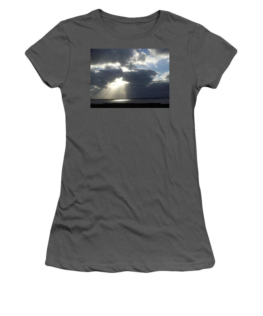 Sunset Women's T-Shirt (Athletic Fit) featuring the photograph Sunset 0041 by Laurie Paci