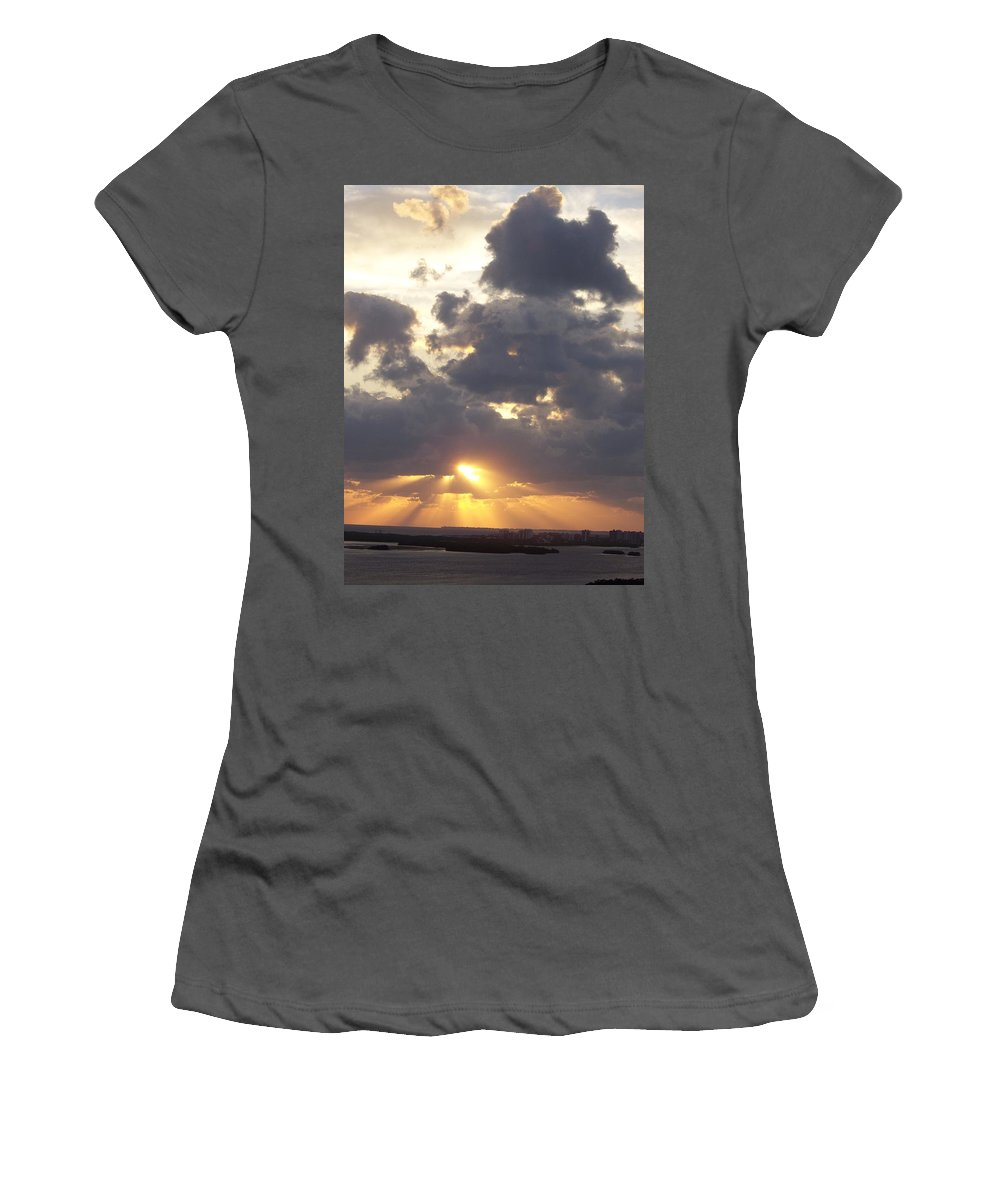 Sunset Women's T-Shirt (Athletic Fit) featuring the photograph Sunset 0045 by Laurie Paci