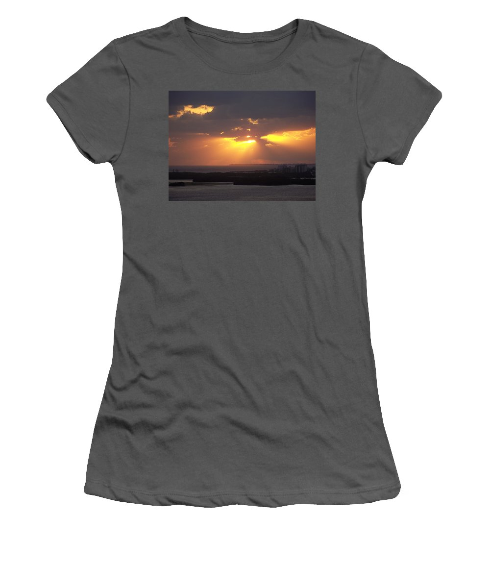 Sunset Women's T-Shirt (Athletic Fit) featuring the photograph Sunset 0047 by Laurie Paci